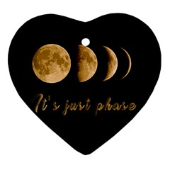 Moon phases  Ornament (Heart)