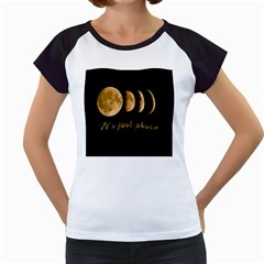 Moon phases  Women s Cap Sleeve T