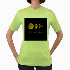 Moon phases  Women s Green T-Shirt