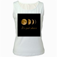 Moon phases  Women s White Tank Top