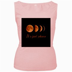 Moon phases  Women s Pink Tank Top