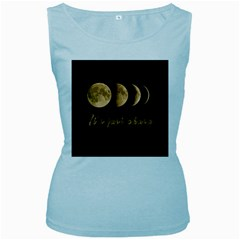 Moon phases  Women s Baby Blue Tank Top