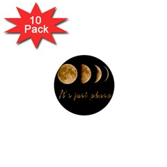 Moon phases  1  Mini Buttons (10 pack)