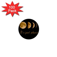 Moon phases  1  Mini Buttons (100 pack)