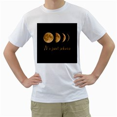 Moon phases  Men s T-Shirt (White) (Two Sided)
