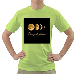 Moon phases  Green T-Shirt