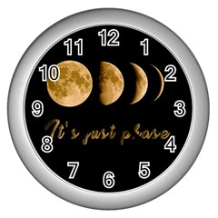 Moon phases  Wall Clocks (Silver)