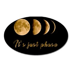 Moon phases  Oval Magnet