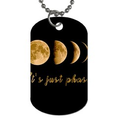 Moon phases  Dog Tag (One Side)