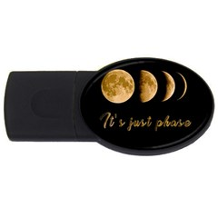 Moon phases  USB Flash Drive Oval (2 GB)