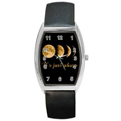 Moon phases  Barrel Style Metal Watch