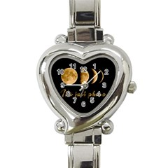 Moon phases  Heart Italian Charm Watch