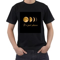 Moon phases  Men s T-Shirt (Black) (Two Sided)