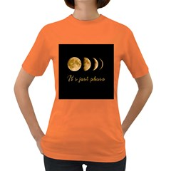 Moon phases  Women s Dark T-Shirt