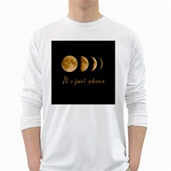 Moon phases  White Long Sleeve T-Shirts