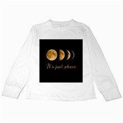 Moon phases  Kids Long Sleeve T-Shirts
