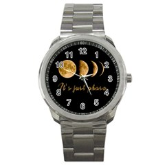 Moon phases  Sport Metal Watch