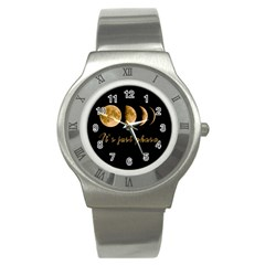 Moon phases  Stainless Steel Watch