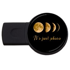 Moon phases  USB Flash Drive Round (4 GB)