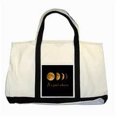 Moon phases  Two Tone Tote Bag