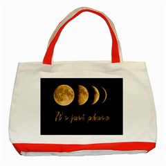 Moon phases  Classic Tote Bag (Red)