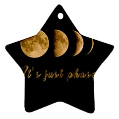 Moon phases  Star Ornament (Two Sides)