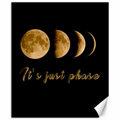 Moon phases  Canvas 8  x 10