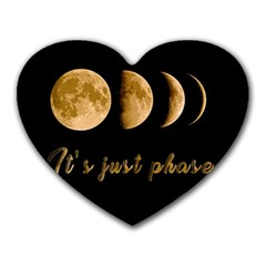 Moon phases  Heart Mousepads