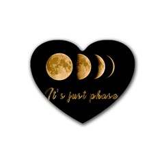 Moon phases  Heart Coaster (4 pack)