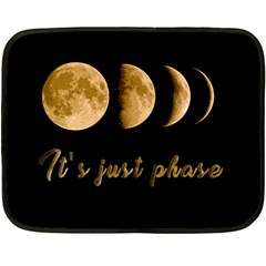 Moon phases  Double Sided Fleece Blanket (Mini)