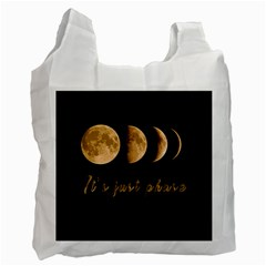 Moon phases  Recycle Bag (One Side)