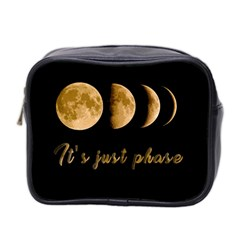 Moon phases  Mini Toiletries Bag 2-Side