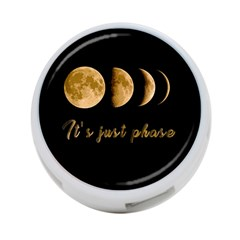 Moon phases  4-Port USB Hub (One Side)