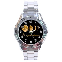 Moon phases  Stainless Steel Analogue Watch