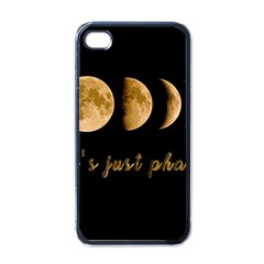Moon phases  Apple iPhone 4 Case (Black)