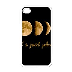 Moon phases  Apple iPhone 4 Case (White)