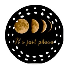 Moon phases  Round Filigree Ornament (Two Sides)