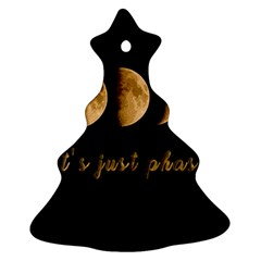Moon phases  Christmas Tree Ornament (Two Sides)