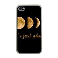 Moon phases  Apple iPhone 4 Case (Clear)