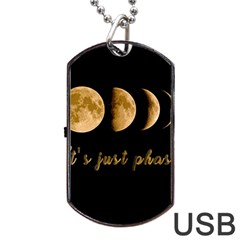Moon phases  Dog Tag USB Flash (One Side)
