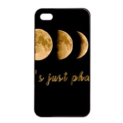 Moon phases  Apple iPhone 4/4s Seamless Case (Black)