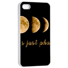 Moon phases  Apple iPhone 4/4s Seamless Case (White)