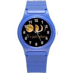 Moon phases  Round Plastic Sport Watch (S)
