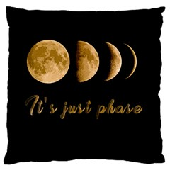 Moon phases  Large Cushion Case (Two Sides)
