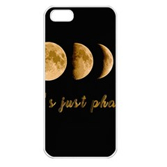 Moon phases  Apple iPhone 5 Seamless Case (White)