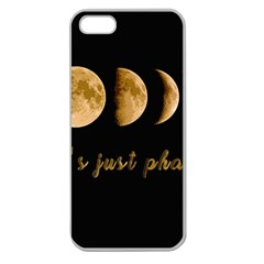 Moon phases  Apple Seamless iPhone 5 Case (Clear)