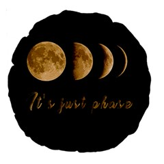 Moon phases  Large 18  Premium Round Cushions
