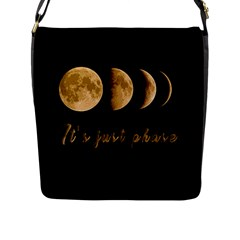 Moon phases  Flap Messenger Bag (L)