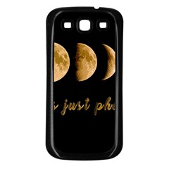 Moon phases  Samsung Galaxy S3 Back Case (Black)