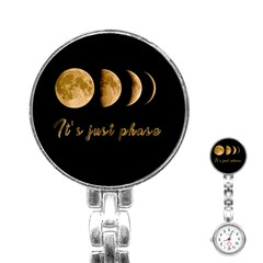 Moon phases  Stainless Steel Nurses Watch